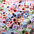 Toy bricks with letters — Stock Photo