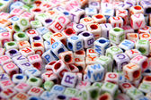 Toy bricks with letters — Stockfoto