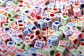 Toy bricks with letters — Φωτογραφία Αρχείου
