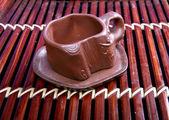 Klei cup voor thee — Stockfoto