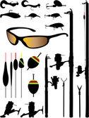 Fishing equipment — Stock Vector