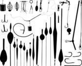 Fishing accessories — Stock Vector