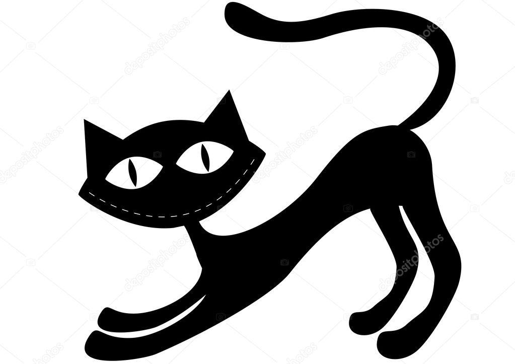 black cat vector cristiano - photo #16