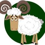 Ram. A vector illustration — Stock Vector