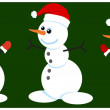 Three snowmen — Stock Vector