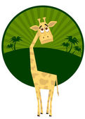 Naive giraffe. A vector illustration — Stock Vector