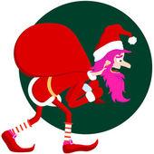 Pink santa Claus. A vector illustration — Stock Vector