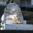 Marble sculpture of sleeping lion by the Vorontsovsky palace — Stock Photo #3314229