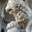 Marble sculpture of lion by the Vorontsovsky palace - Stock Photo