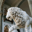 Marble sculpture of sleeping lion by the Vorontsovsky palace — Stock Photo #3314265