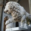 Marble sculpture of lion by the Vorontsovsky palace — Stock Photo #3314277