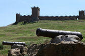 The Genoa Fortress in Sudak, — Stock Photo
