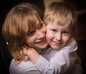 Loving Mother And Son — Foto Stock