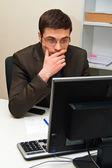 Perplexed Businessman — Stock Photo