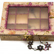 Isolated Decoupage Box — Zdjęcie stockowe #3266168