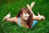 Thumbs Up For Summer — Stock Photo