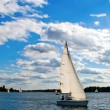 Sailboat On A Lake — Stock Photo