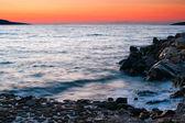 晚上在沙滩上 — Stock fotografie