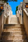 отель лестница на открытом воздухе — Стоковое фото