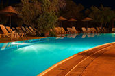 Swimming Pool At Night — Stock fotografie