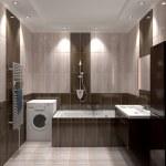 Modern interior of bathroom — Stock Photo