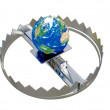 Earth in trap — Stock Photo