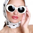 Stock Photo: Young womin sunglasses