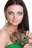 Ritratto di una donna giovane e bella — Foto Stock