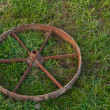 Stock Photo: Rusty old steel wheel