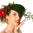 Spring-woman — Stock Photo