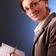 Stock Photo: Professional on blue