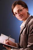 Professional na niebiesko — Zdjęcie stockowe