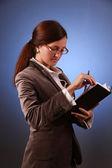 Jeune-femme d'affaires — Photo