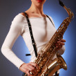 Focus on sax — Stock Photo #2839984