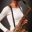 Saxophone in dark — Stock Photo #2840236