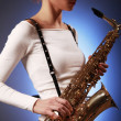Sax in focus — Stock Photo