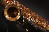 Shiny saxophone — Stock Photo