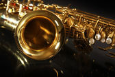 Sax on black — Stock Photo