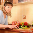 Preparing salad — Stock Photo