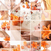 Orange-collage — Stockfoto