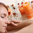 Beautiful girl relaxing in spa salon — Stock Photo #3198249