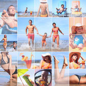 Zomer collage — Stockfoto