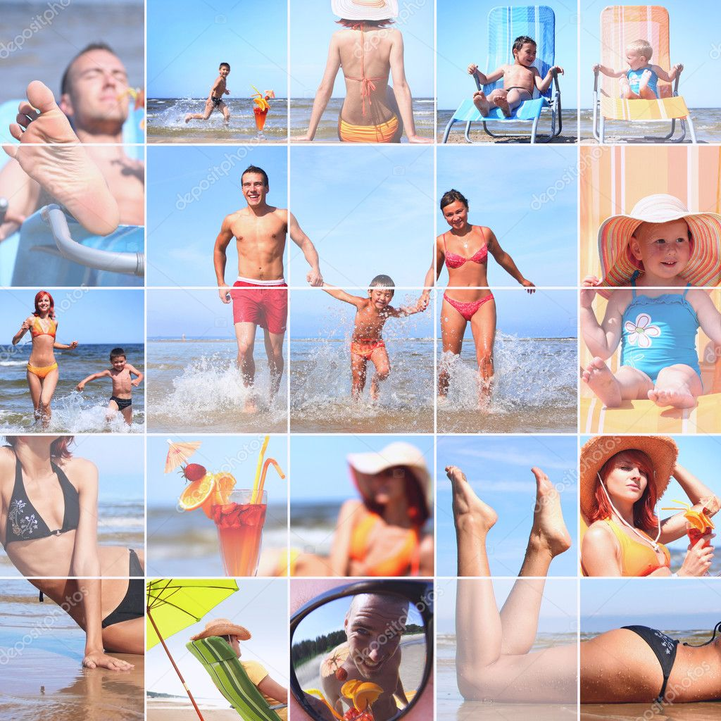 Summer collage — Stock Photo #3831808