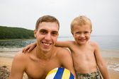 Uncle and nephew — Stock Photo