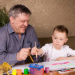 Grandfather and grandson — Stock Photo #2823872