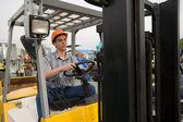 Operator forklift — Stock Photo