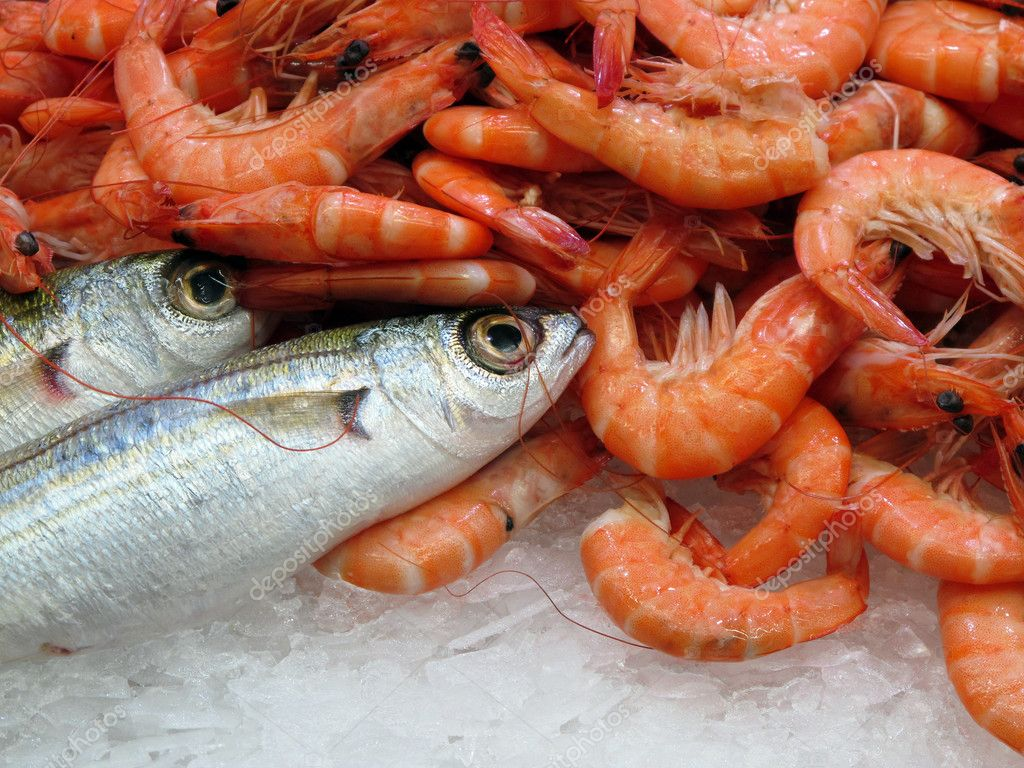 Shrimp and fish stock photo gsermek 2880139 for Fish and seafood