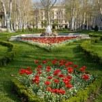 Zrinjevac park in Zagreb, Croatia — Stock Photo