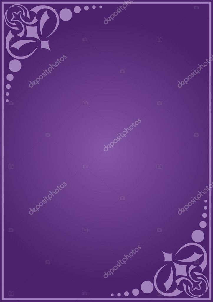 Vector violet decorative card with gradient — Stock Vector #2809918