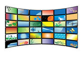 Vector color tv monitors — Stock Vector